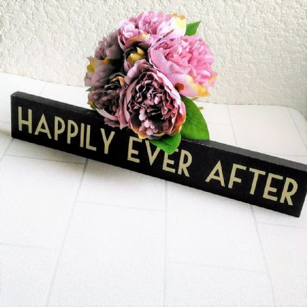 50% OFF Happily Ever After Vintage Wedding Wooden Sign